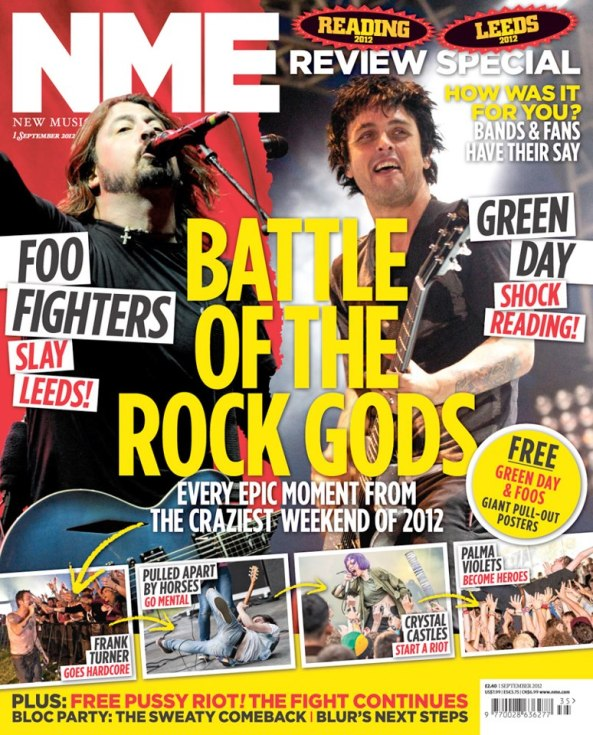 NME Magazine Foo Fighters Green Day
