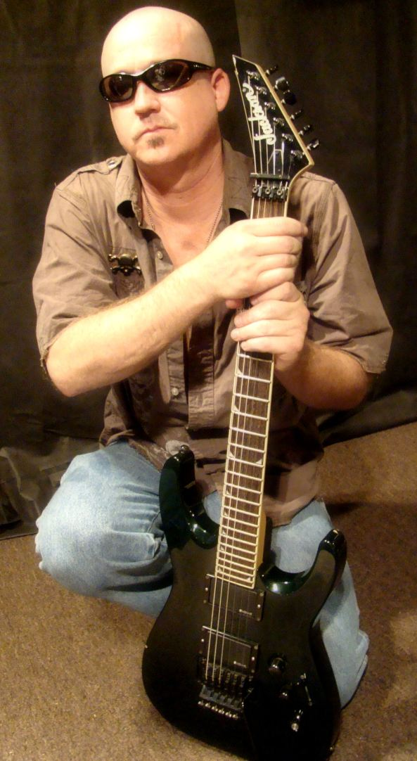 Jeff Swan and his  Jackson Guitar